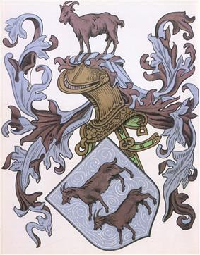 The shield from the coat of arms of Pedro Álvares Cabral's famliy