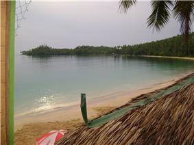 Seashore at a beach located in Cagwait