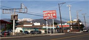 Roadside business in Devore along former historic U.S. Route 66 (Cajon Boulevard)