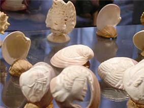 Carved shell miniatures