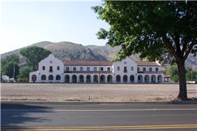 Old train station, Caliente, NV