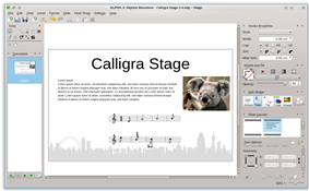 Calligra Stage screenshot