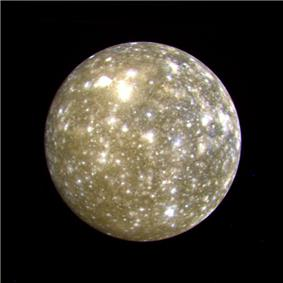Callisto photographed at a distance of 1 million kilometers
