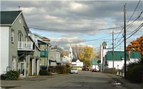Calumet's quiet main street