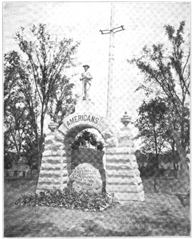 The memorial to the Confederate dead at Camp Chase