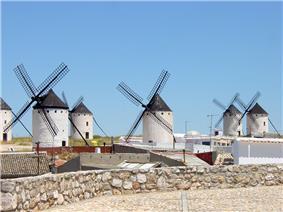 La Mancha's windmills were immortalized in the novel Don Quixote