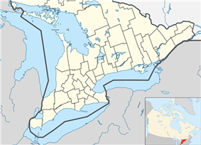 Orangeville is located in Southern Ontario