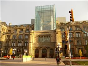 View of the front facade of the Canadian Museum of Nature