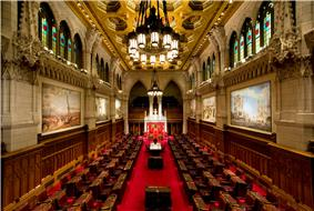 The Senate of Canada sits in the Centre Block in Ottawa