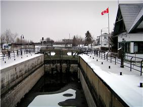 Chambly Canal in winter