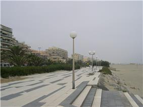 The promenade at Canet-en-Roussillon