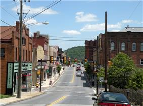 West Pike Street near the intersection of North Jefferson Avenue