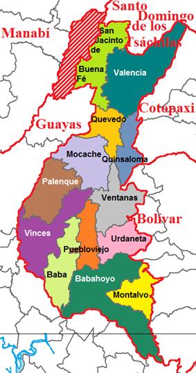Cantons of Los Ríos Province