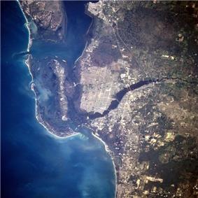 Satellite view of Cape Coral