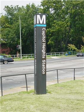 Capitol View is just across the state border from the Capitol Heights Metro Station.