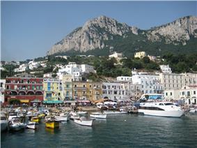 Capri harbor (Marina Grande)  and waterfront