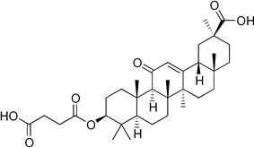 Skeletal formula of carbenoxolone