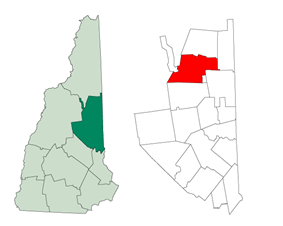 Location in Carroll County, New Hampshire