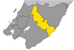 Location of Carterton District within Wellington Region