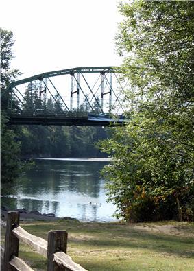 Carver Bridge, Carver Park, and Clackamas River