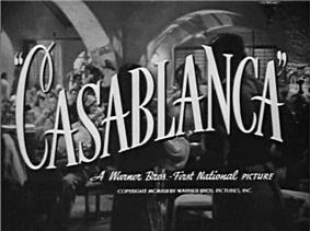 Title card for Casablanca