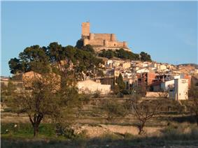 Castle and town of Biar.