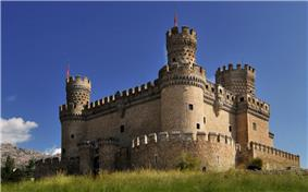 Castle of the Mendoza in Manzanares el Real