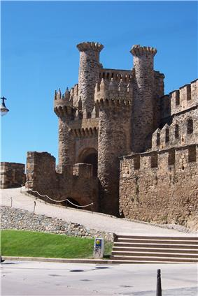 Facade of the Templar Castle, built in the 12th century