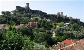 Castle of Kruja and Skanderbeg Museum over the skyline