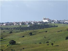 Castro Verde as seen from the Monument to the Battle of Ourique in São Pedro de Cabeças