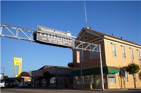 Castroville Sign and La Scuola on Merritt Street