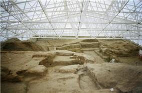 Excavations at the southern area of the site.