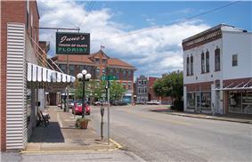 Louisa Street in downtown Catlettsburg in 2007