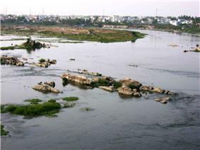 River Kaveri at Erode.