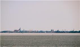 Cavite skyline as seen across Manila Bay