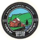 Official seal of Town of Cedar Bluff, Virginia