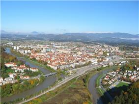 View of Celje from Celje Castle