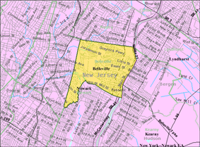 Census Bureau map of Belleville, New Jersey