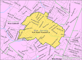 Census Bureau map of Caldwell, New Jersey
