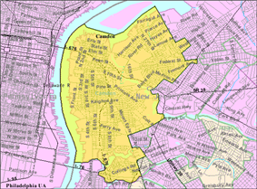 Census Bureau map of Camden, New Jersey
