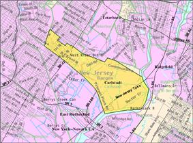 Census Bureau map of Carlstadt, New Jersey
