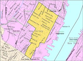 Census Bureau map of Cliffside Park, New Jersey
