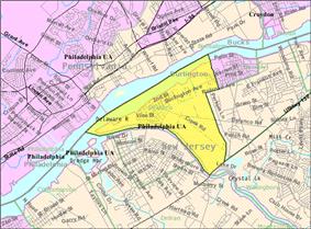 Census Bureau map of Delanco Township, New Jersey