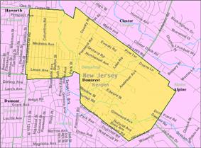 Census Bureau map of Demarest, New Jersey