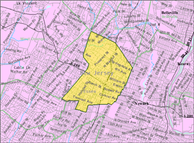 Census Bureau map of East Orange, New Jersey