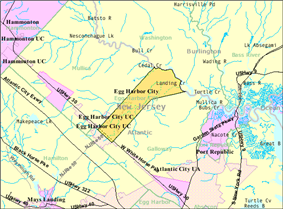 Census Bureau map of Egg Harbor City, New Jersey
