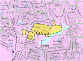 Census Bureau map of Emerson, New Jersey