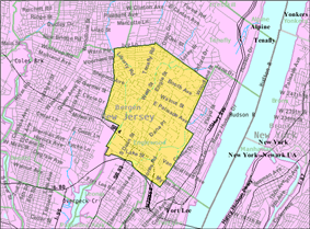 Census Bureau map of Englewood, New Jersey