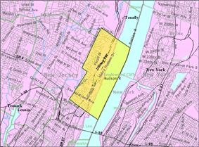Census Bureau map of Englewood Cliffs, New Jersey