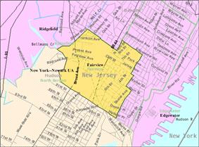 Census Bureau map of Fairview, New Jersey